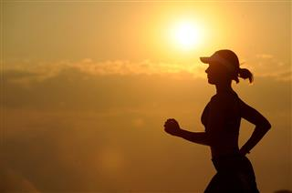 running woman sunrise