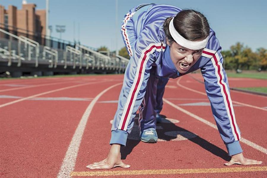 running man on the track